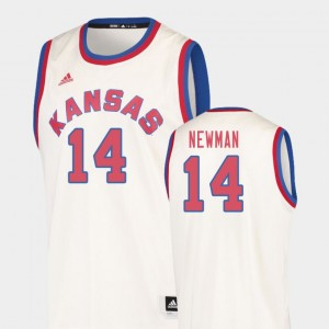Malik Newman College Jersey Basketball Mens Hardwood Classics Cream Kansas #14