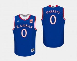 KU #0 For Men Royal Basketball Marcus Garrett College Jersey