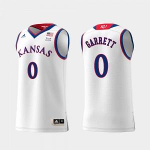 #0 Jayhawks Swingman Basketball White Replica For Men Marcus Garrett College Jersey