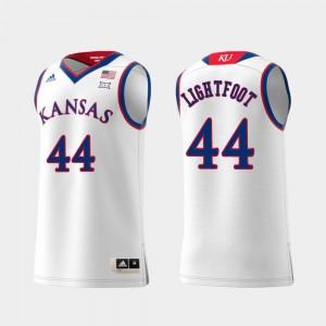 Swingman Basketball #44 White Kansas Mitch Lightfoot College Jersey For Men Replica