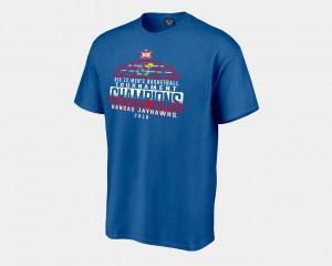 2018 Big 12 Champions Locker Room College T-Shirt Basketball Conference Tournament Men Jayhawks Royal