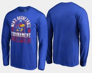 Royal Basketball Conference Tournament College T-Shirt Kansas For Men 2018 Big 12 Champions Long Sleeve