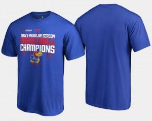 For Men's 2018 Big 12 Champions Royal KU College T-Shirt Basketball Regular Season