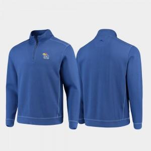 For Men's College Jacket Sport Nassau Half-Zip Pullover Tommy Bahama Kansas Royal