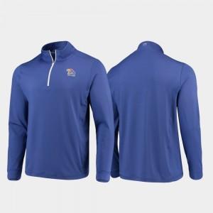 Royal Quarter-Zip Performance KU College Jacket Men's Gameday