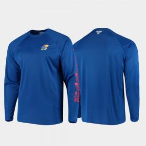 Mens Omni-Shade Royal College T-Shirt PFG Terminal Tackle Long Sleeve Kansas
