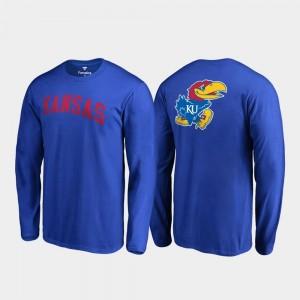 Royal College T-Shirt Long Sleeve Kansas Jayhawks Mens Primetime
