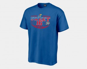 Royal Kansas Sweet 16 Bound For Men's College T-Shirt 2018 March Madness Basketball Tournament