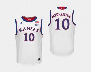 Basketball Mens #10 KU White Sviatoslav Mykhailiuk College Jersey