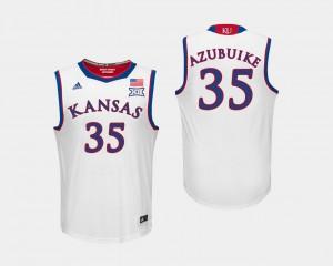 White Basketball Jayhawks #35 Udoka Azubuike College Jersey Men