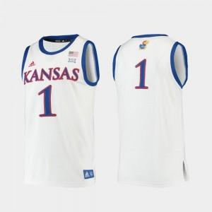 Replica White Basketball Men University of Kansas #1 College Jersey