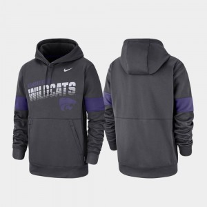 For Men Performance Anthracite Kansas State University College Hoodie Pullover
