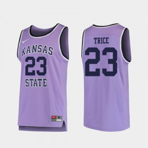 Basketball Purple Austin Trice College Jersey Kansas State Men's Replica #23