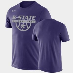 College T-Shirt Purple Performance Basketball Drop Legend For Men KSU
