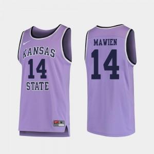 Men #14 Purple Makol Mawien College Jersey Replica Basketball Kansas State
