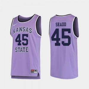 Men's Basketball Nigel Shadd College Jersey #45 Kansas State University Purple Replica