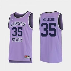Purple Kansas State Wildcats Basketball #35 Replica Patrick Muldoon College Jersey Men's