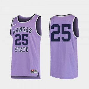 Kansas State Wildcats College Jersey Replica #25 Basketball Purple Mens