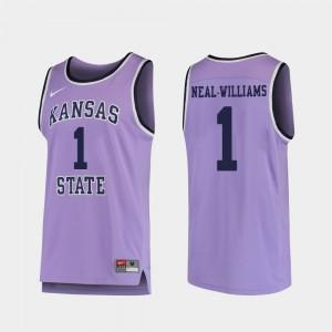 For Men Basketball Kansas State University Replica Shaun Neal-Williams College Jersey #1 Purple