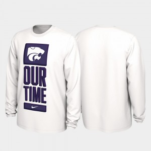 2020 March Madness Our Time Bench Legend Kansas State Wildcats Men's College T-Shirt White