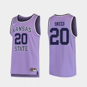 Replica For Men's Kansas State Wildcats Xavier Sneed College Jersey Purple #20 Basketball