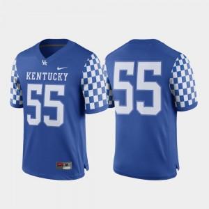 Game Royal Football #55 College Jersey Men University of Kentucky