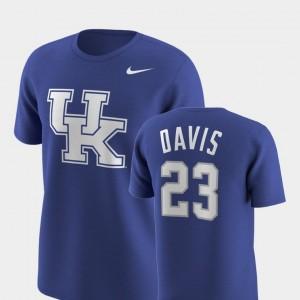 Royal #23 Replica University of Kentucky Anthony Davis College T-Shirt Future Stars Men's