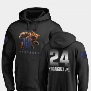 For Men Midnight Mascot Christopher Rodriguez Jr. College Hoodie #24 Football Black University of Kentucky