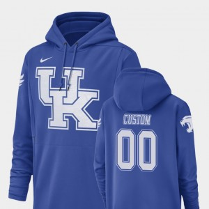 College Custom Hoodie #00 For Men Wildcats Champ Drive Royal Football Performance