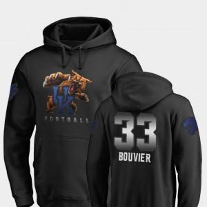 #33 Football Midnight Mascot Kentucky Wildcats Men's Black David Bouvier College Hoodie