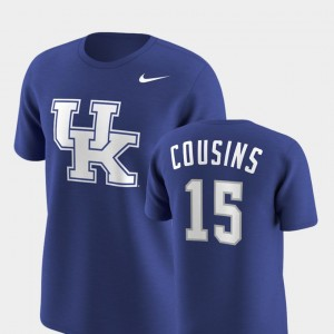 Royal Kentucky Wildcats Future Stars #15 Men Replica DeMarcus Cousins College T-Shirt