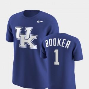 Royal Devin Booker College T-Shirt Men #1 Kentucky Wildcats Future Stars Replica