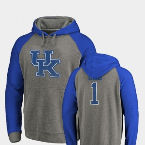 Raglan Tri-Blend Big & Tall Kentucky Wildcats Heathered Gray Men's Greatest Dad College Hoodie