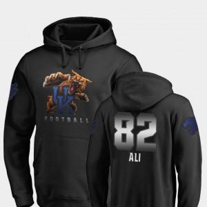 Black Josh Ali College Hoodie #82 University of Kentucky Men's Football Midnight Mascot