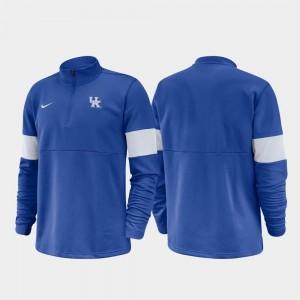 College Jacket For Men Royal Wildcats 2019 Coaches Sideline Half-Zip Performance