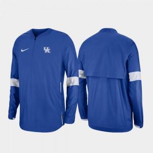 Quarter-Zip Kentucky Wildcats College Jacket Royal 2019 Coaches Sideline Men's