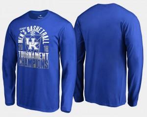 College T-Shirt Basketball Conference Tournament Royal Kentucky Men's 2018 SEC Champions Long Sleeve