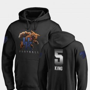 University of Kentucky #5 Football Sihiem King College Hoodie Midnight Mascot Mens Black