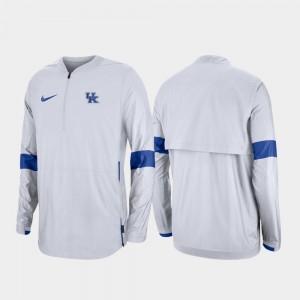 College Jacket 2019 Coaches Sideline UK For Men White Quarter-Zip