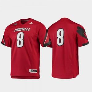Louisville Cardinals Men's Football College Jersey Premier #8 Red