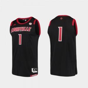 Black #1 Cardinal Men's Basketball Swingman Replica College Jersey