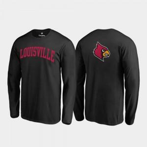 Long Sleeve Men's Black College T-Shirt Primetime U of L