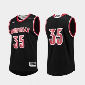 College Jersey Black #35 Louisville Basketball Men Replica