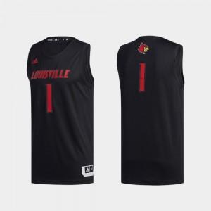 College Jersey Black #1 Louisville Cardinals Swingman Basketball Mens Basketball Swingman