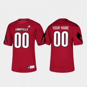 U of L Men's Football #00 College Custom Jersey Red