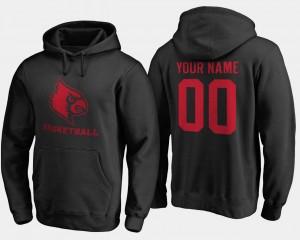 Black #00 Cardinals Mens College Customized Hoodies Basketball -