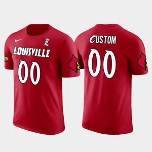 Cotton Football Red UofL Future Stars #00 College Customized T-Shirt Men