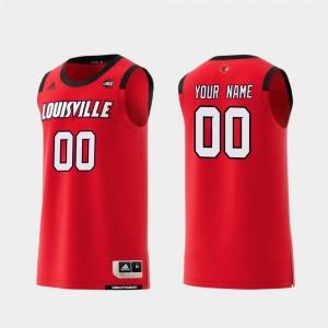 Red #00 Replica Basketball Men College Customized Jerseys Louisville Cardinals