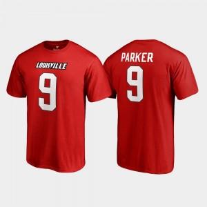 Red For Men UofL DeVante Parker College T-Shirt Name & Number Legends #9