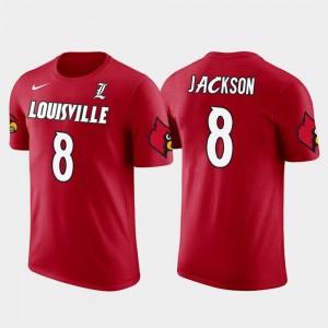 Red Baltimore Ravens Football For Men Future Stars Cardinals #8 Lamar Jackson College T-Shirt